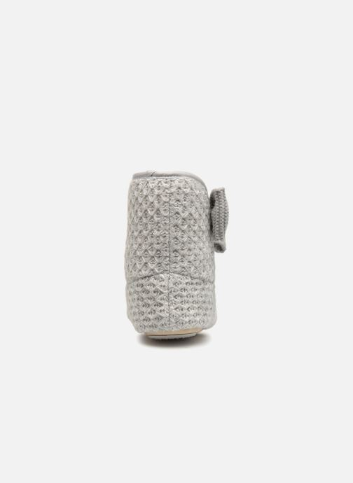 Slippers Isotoner Botillon tricot lurex Grey view from the right