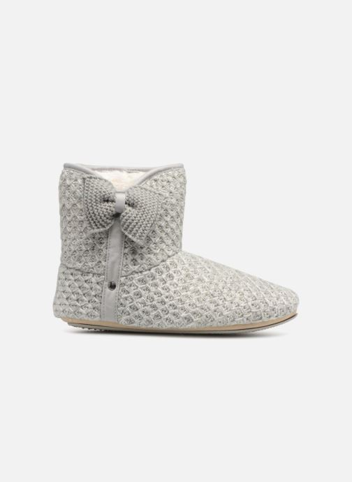 Slippers Isotoner Botillon tricot lurex Grey back view