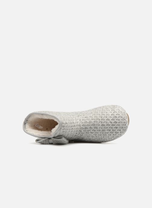 Slippers Isotoner Botillon tricot lurex Grey view from the left