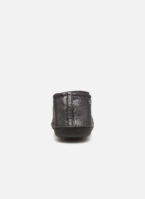 Pantuflas Isotoner Charentaise semelle ergonomqiue Negro vista lateral derecha