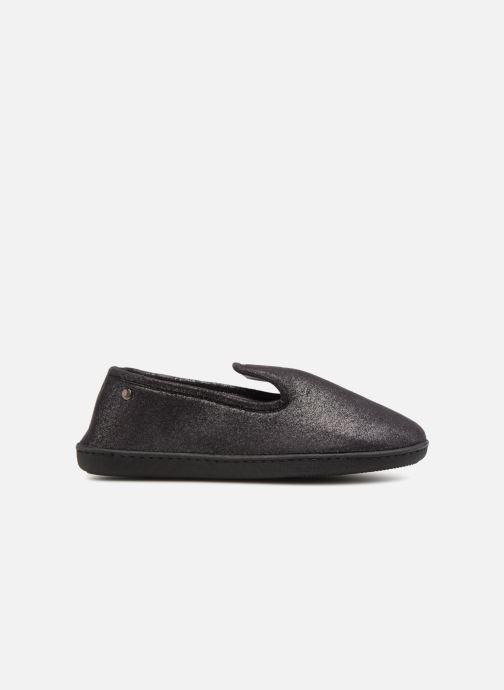 Slippers Isotoner Charentaise semelle ergonomqiue Black back view
