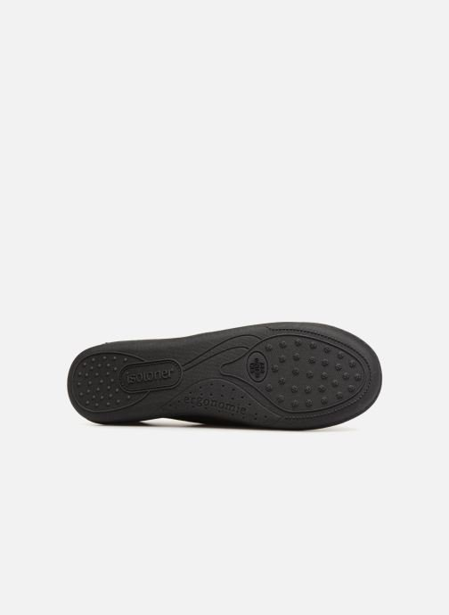 Slippers Isotoner Charentaise semelle ergonomqiue Black view from above