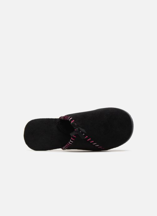 Slippers Isotoner Mule velours semelle ergonomique Black view from the left