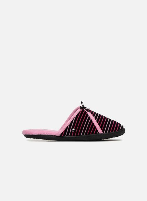 Slippers Isotoner Mule velours semelle ergonomique Pink back view