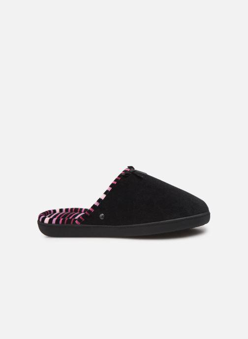 Pantoffels Isotoner Mule velours semelle ergonomique Zwart achterkant