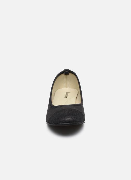 Ballerines Isotoner Ballerine bi-matières Noir vue portées chaussures
