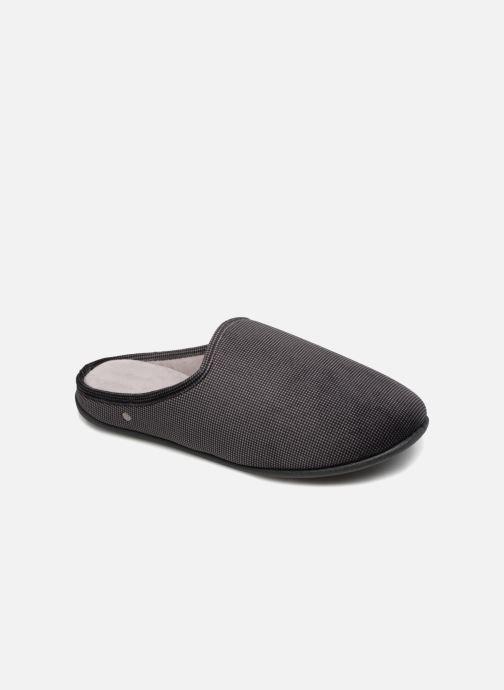 20b6741340051b Chaussons Isotoner Mule confort + pied de poule Gris vue détail paire