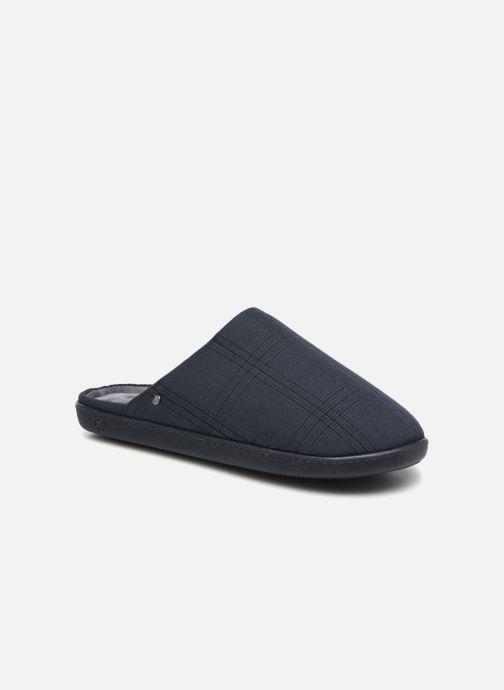 Chaussons Isotoner Mule ergonomique Prince de galles Bleu vue détail/paire