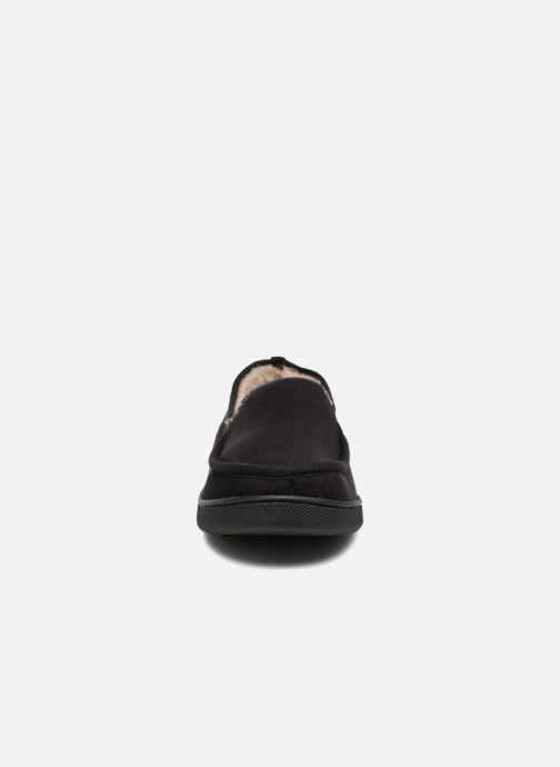Chaussons Isotoner Mocassin suédine H Noir vue portées chaussures