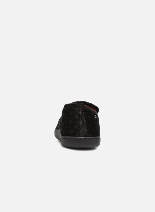 Chaussons Isotoner Charentaisse Velours texturé Noir vue droite