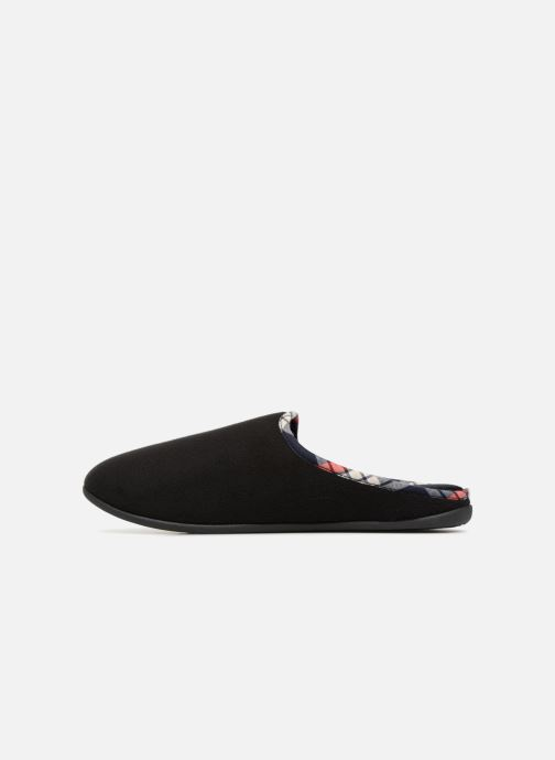 Slippers Isotoner Mule confort polaire Black front view