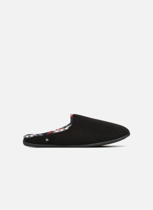 Slippers Isotoner Mule confort polaire Black back view