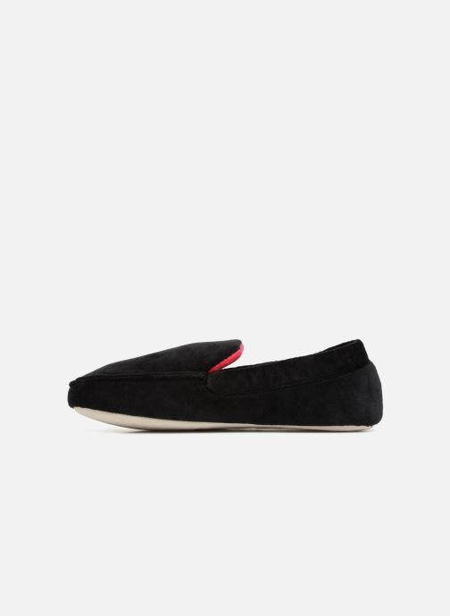Slippers Isotoner Mocassin velours H Black front view