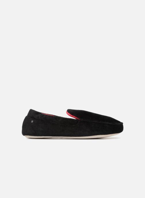 Slippers Isotoner Mocassin velours H Black back view