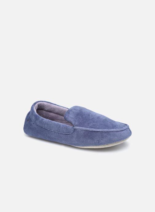 Pantuflas Isotoner Mocassin Velours Bio – Semelle Peau M Azul vista de detalle / par