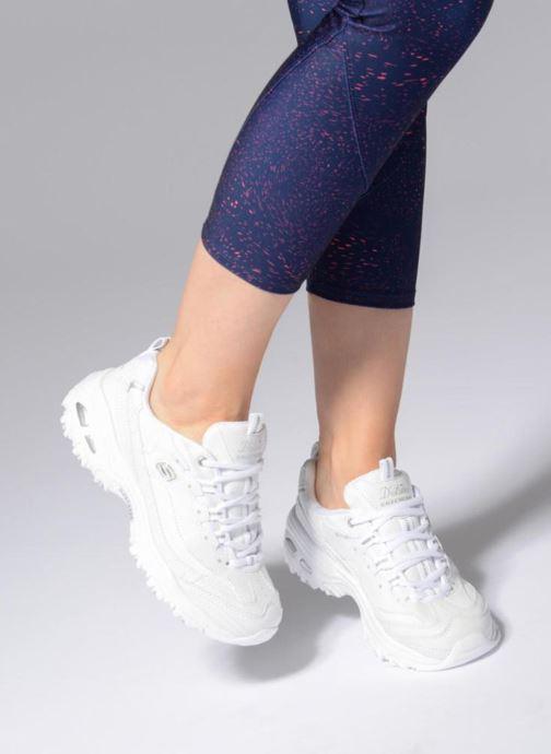 Baskets Skechers D'Lites Blanc vue bas / vue portée sac