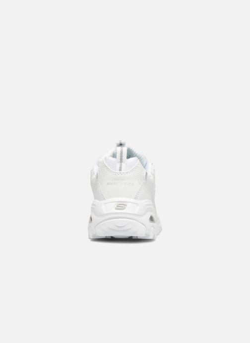 Baskets Skechers D'Lites Blanc vue droite