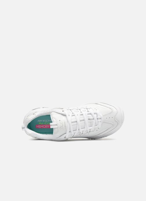 Baskets Skechers D'Lites Blanc vue gauche