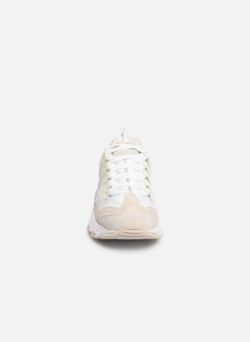 Baskets Skechers D'Lites Blanc vue portées chaussures