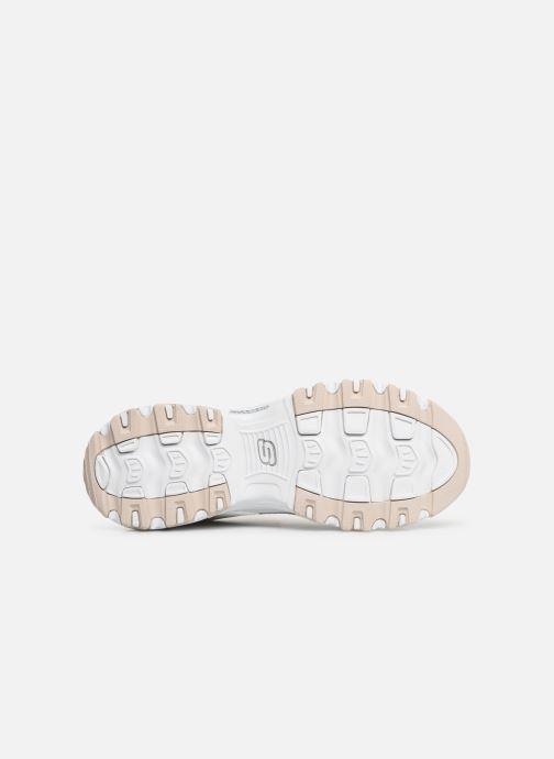 Baskets Skechers D'Lites Blanc vue haut