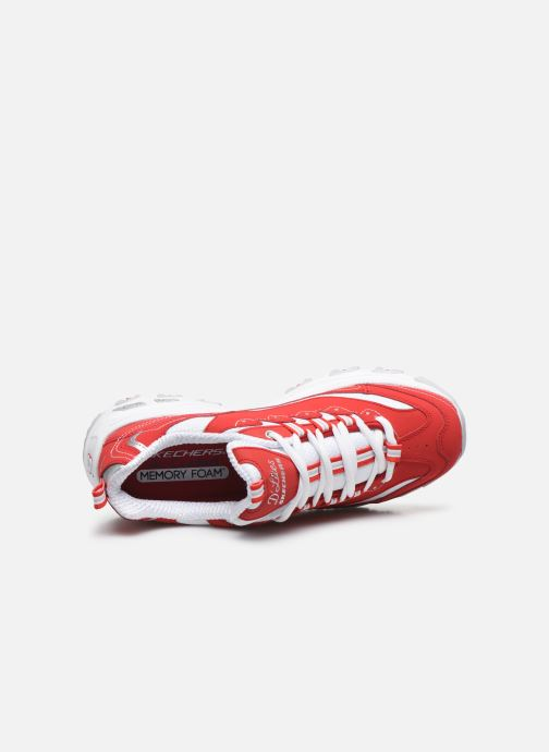 Sneakers Skechers D'Lites Rosso immagine sinistra