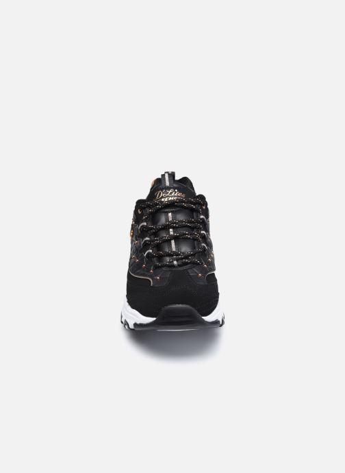 Sneaker Skechers D'Lites schwarz schuhe getragen