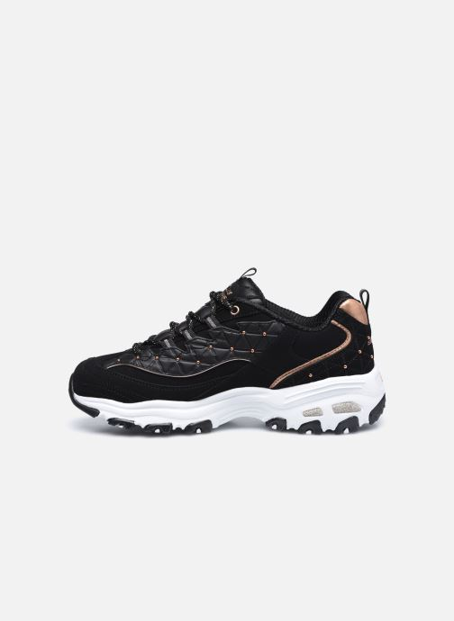 Baskets Skechers D'Lites Noir vue face