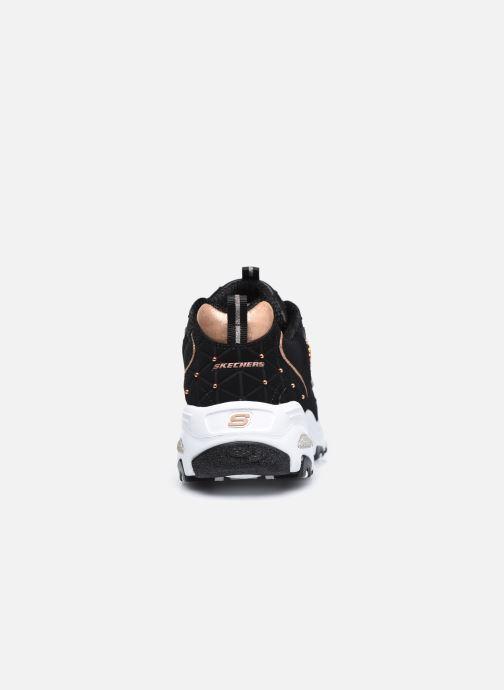 Sneaker Skechers D'Lites schwarz ansicht von rechts