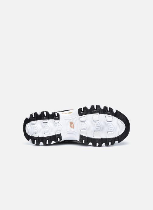Sneaker Skechers D'Lites schwarz ansicht von oben