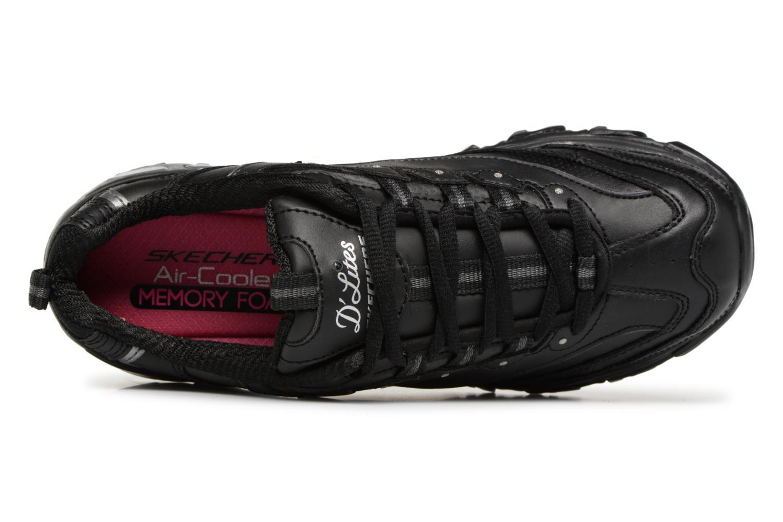 Baskets Skechers D'Lites Noir vue gauche