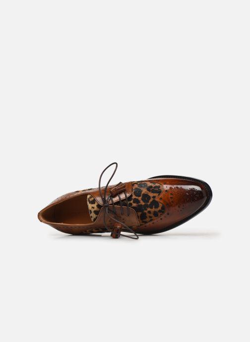 Zapatos con cordones Melvin & Hamilton Betty 3 Marrón vista lateral izquierda