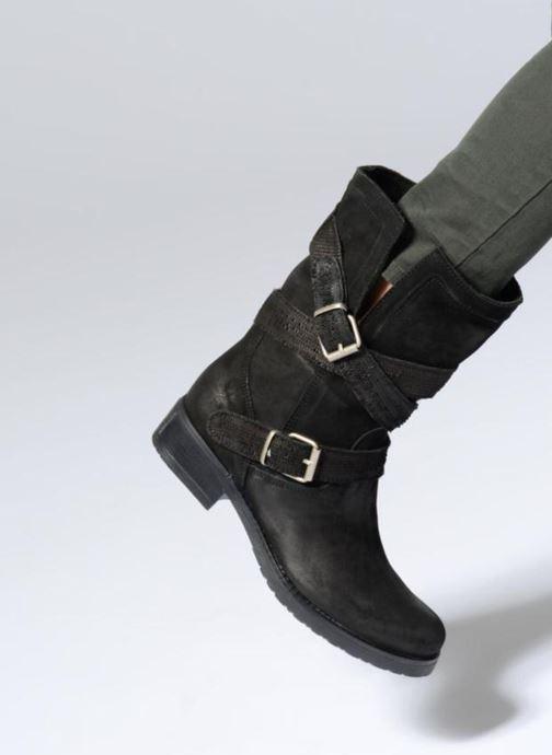 Boots & wellies Sweet Lemon L.23.REKIEM Black view from underneath / model view