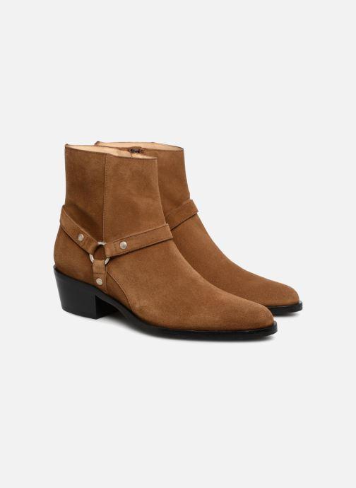 Bottines et boots Free Lance Jane 5 Harnais Zip Boot Marron vue 3/4