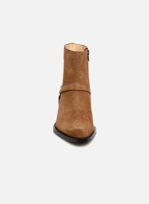 Bottines et boots Free Lance Jane 5 Harnais Zip Boot Marron vue portées chaussures