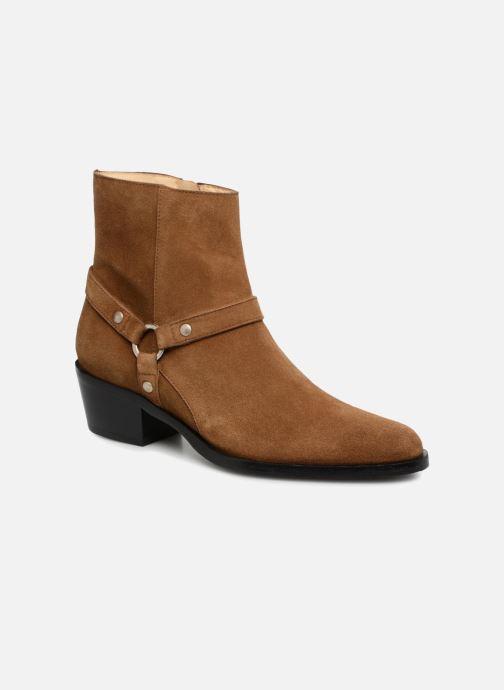 Boots en enkellaarsjes Free Lance Jane 5 Harnais Zip Boot Bruin detail