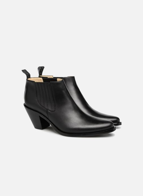 Bottines et boots Free Lance Jane 7 Low Chelsea Boot Noir vue 3/4