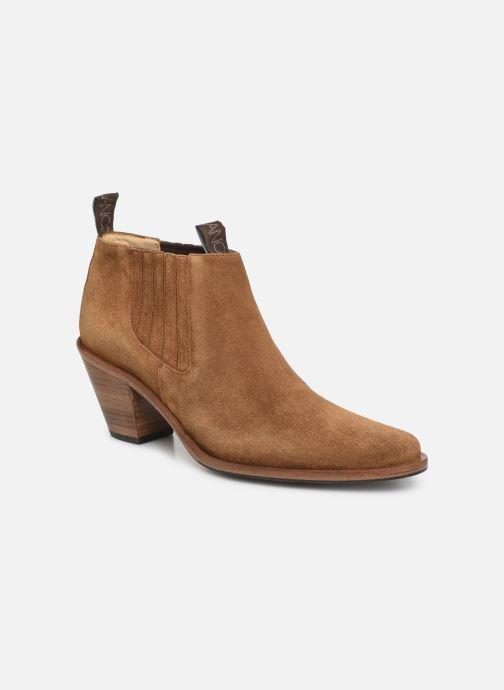 Bottines et boots Free Lance Jane 7 Low Chelsea Boot Marron vue détail/paire