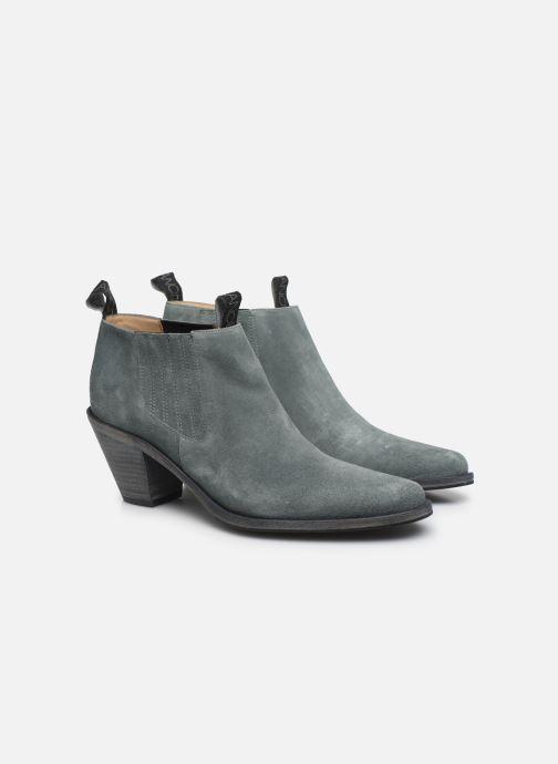 Bottines et boots Free Lance Jane 7 Low Chelsea Boot Bleu vue 3/4