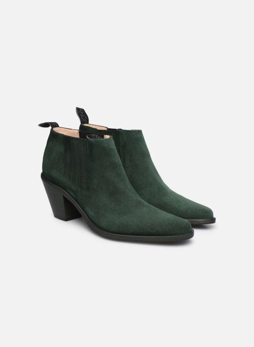 Bottines et boots Free Lance Jane 7 Low Chelsea Boot Vert vue 3/4