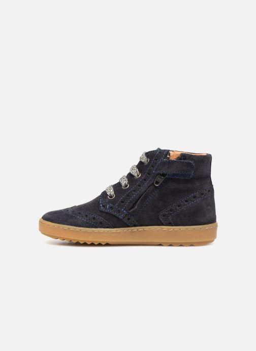 Sneakers Pom d Api Wouf Brogue Blauw voorkant