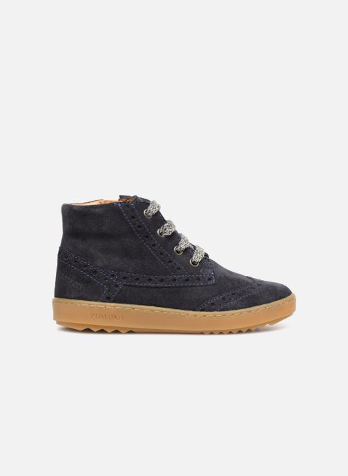 Sneakers Pom d Api Wouf Brogue Blauw achterkant