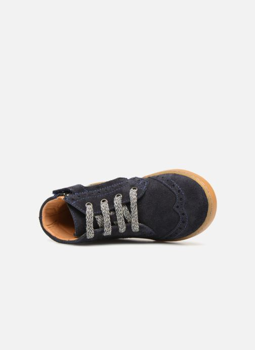 Sneakers Pom d Api Wouf Brogue Blauw links