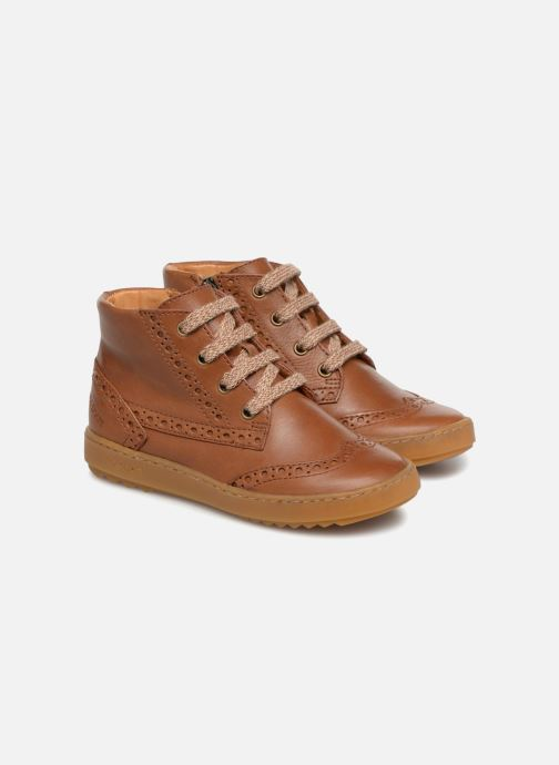 Trainers Pom d Api Wouf Brogue Brown 3/4 view