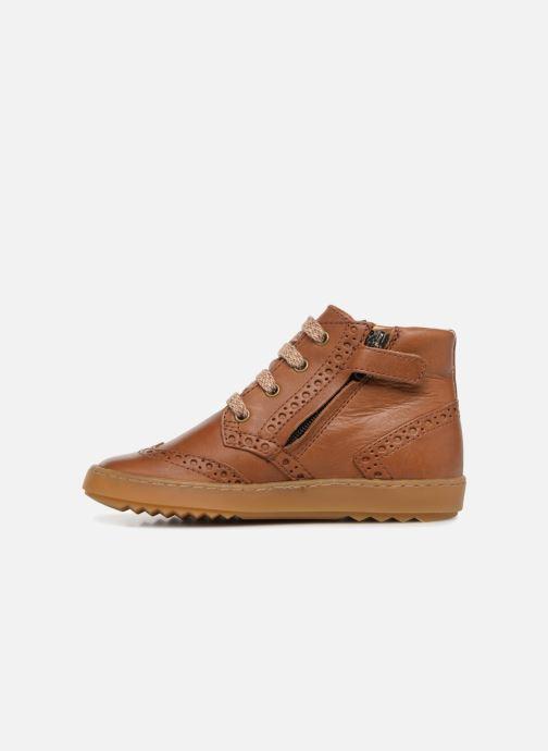 Sneakers Pom d Api Wouf Brogue Bruin voorkant