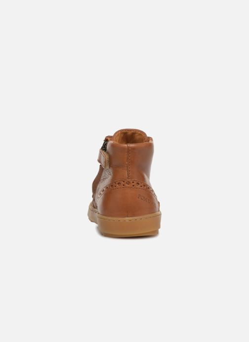 Trainers Pom d Api Wouf Brogue Brown view from the right
