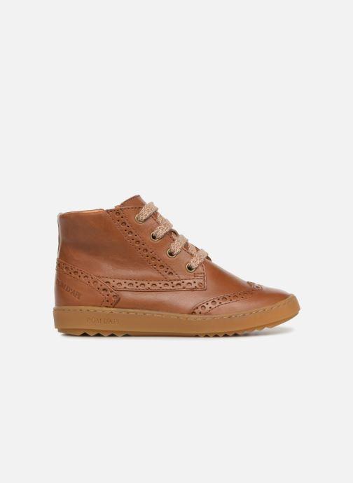Sneakers Pom d Api Wouf Brogue Bruin achterkant