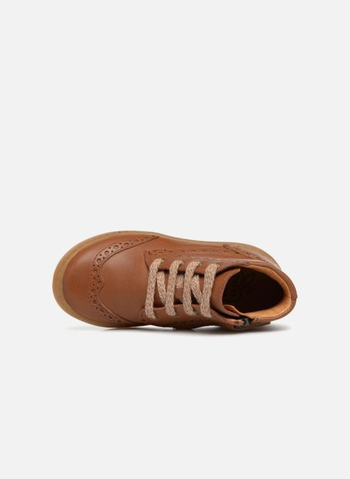 Baskets Pom d Api Wouf Brogue Marron vue gauche