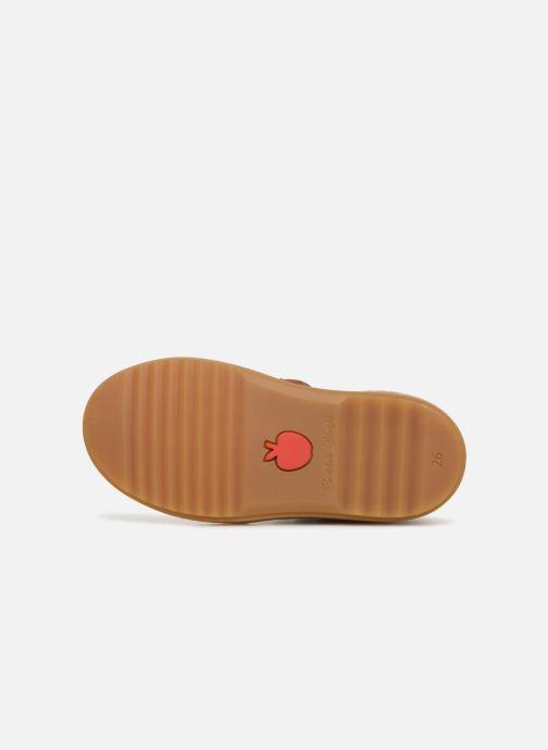 Sneaker Pom d Api Wouf Brogue braun ansicht von oben