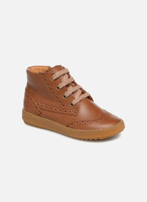 Sneakers Pom d Api Wouf Brogue Bruin detail