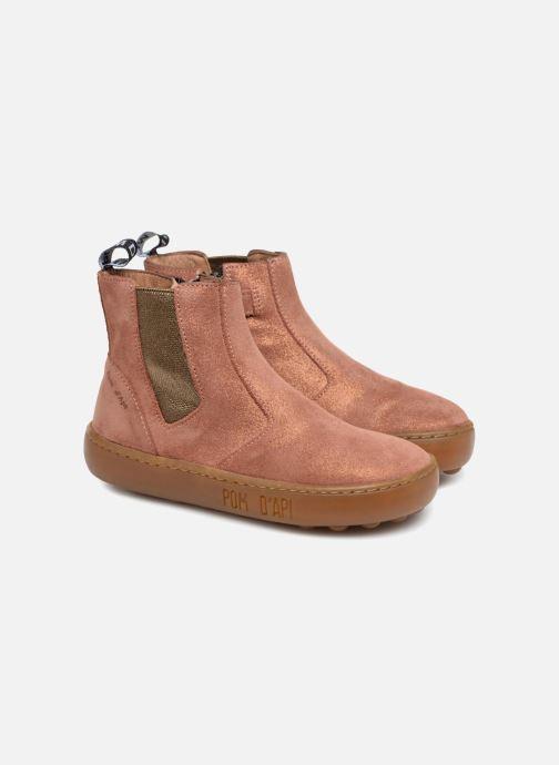 Bottines et boots Pom d Api Walk Jodpur Basic SZ Rose vue 3/4